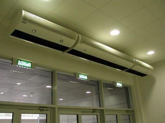 Электрическая тепловая завеса