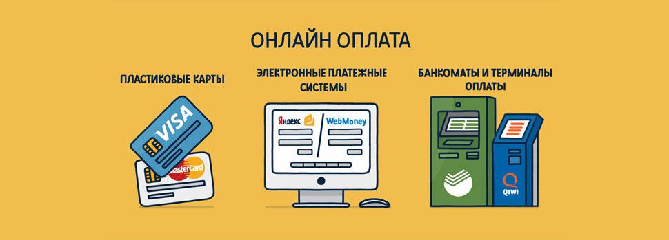 Оплата банковскими картами и электронными деньгами