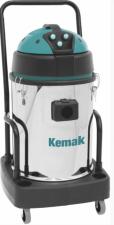 Профессиональный пылеводосос КЕМАК KV 493 M Inox (3 турбины, бак из нержавеющей стали, на тележке, без аксессуаров)