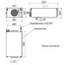 Канальный увлажнитель воздуха Breezart 1000 Humi EL P / 2,5-2,5