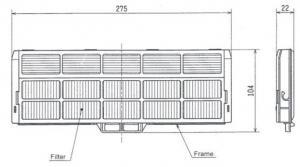Антиаллергенная фильтрующая вставка Mitsubishi Electric MAC-171FT-E